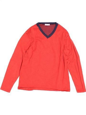 Pull garçon DPAM rouge 10 ans hiver #1519394_1