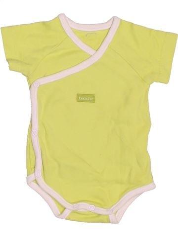 T-shirt manches courtes unisexe BRIOCHE jaune 1 mois été #1519912_1