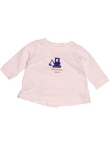 T-shirt manches longues garçon BOUT'CHOU blanc 3 mois hiver #1520281_1