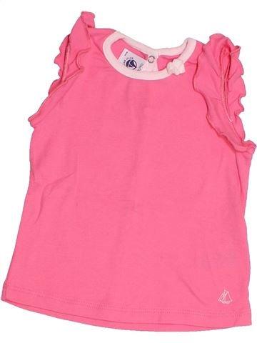 T-shirt sans manches fille PETIT BATEAU rose 12 mois été #1520396_1