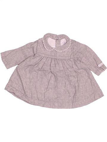 Robe fille PETIT BATEAU gris 3 mois hiver #1520407_1