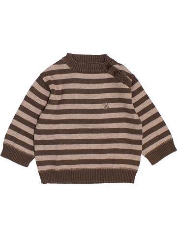 Pull garçon OKAIDI marron 6 mois hiver #1520681_1