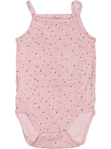 T-shirt sans manches fille DPAM rose 12 mois été #1520879_1