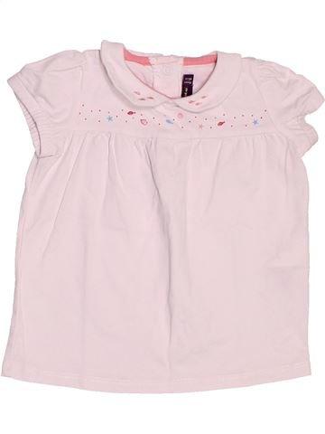 T-shirt manches courtes fille SERGENT MAJOR rose 18 mois été #1521020_1