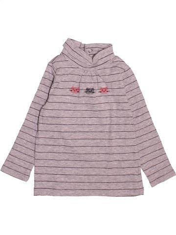 T-shirt col roulé fille CADET ROUSSELLE rose 6 mois hiver #1521632_1