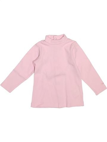 T-shirt col roulé fille BERLINGOT rose 9 mois hiver #1521641_1