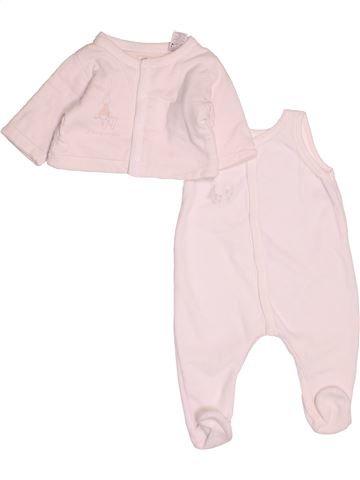 Pyjama 2 pièces unisexe PETIT BATEAU blanc 3 mois hiver #1522010_1