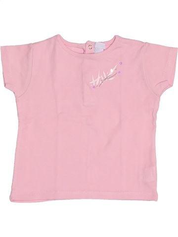 T-shirt manches courtes fille OKAIDI rose 12 mois été #1522019_1