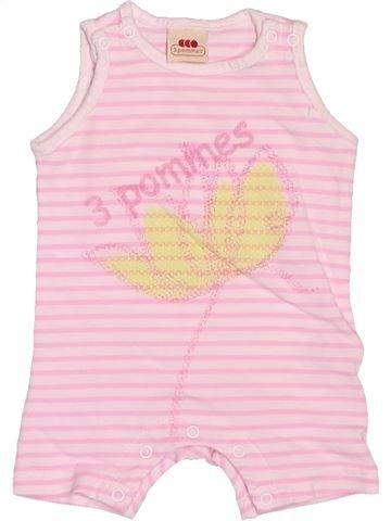 Combinación corta niña 3 POMMES rosa 1 mes verano #1522076_1
