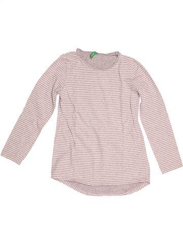 Camiseta de manga larga niño BENETTON rosa 8 años invierno #1523094_1