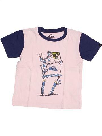 T-shirt manches courtes garçon QUIKSILVER blanc 4 ans été #1523768_1