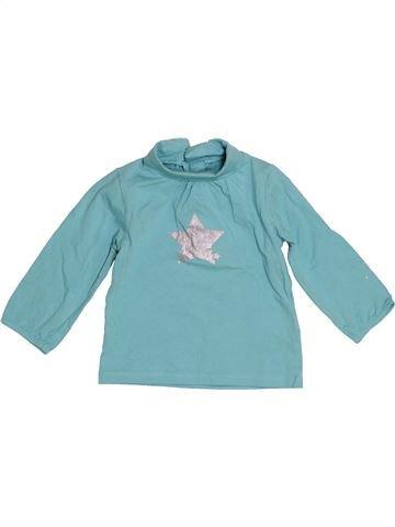 T-shirt col roulé fille VERTBAUDET bleu 12 mois hiver #1523825_1