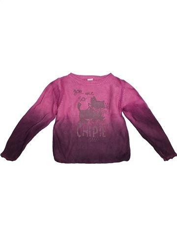 Pull fille CHIPIE violet 4 ans hiver #1524069_1
