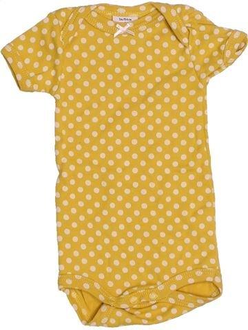 T-shirt manches courtes fille PETIT BATEAU jaune 1 mois été #1524113_1