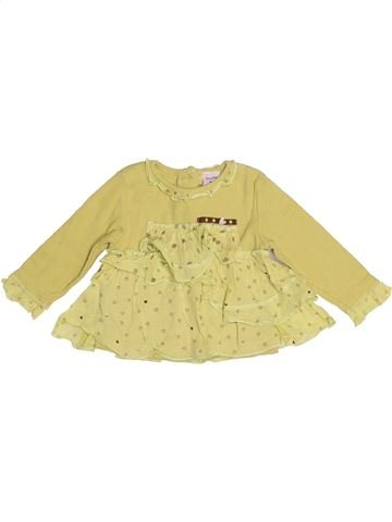 T-shirt manches longues fille ABSORBA beige 6 mois hiver #1524235_1