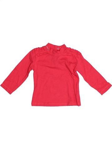 T-shirt manches longues fille CONFETTI rouge 6 mois hiver #1524252_1