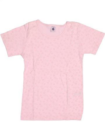 T-shirt manches courtes fille PETIT BATEAU rose 10 ans été #1525146_1