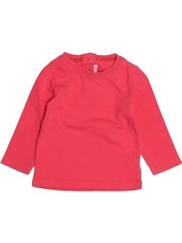 T-shirt manches longues fille DPAM rouge 6 mois hiver #1525356_1