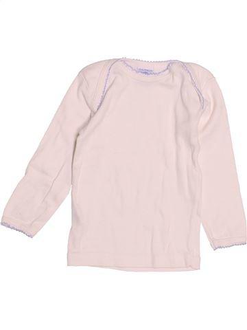 T-shirt manches longues fille PETIT BATEAU rose 12 mois hiver #1525477_1
