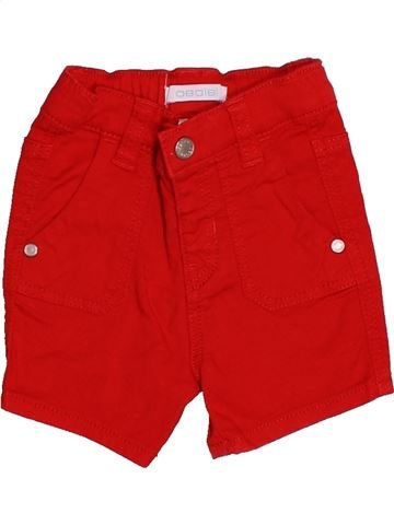Short - Bermuda garçon OKAIDI rouge 3 mois été #1526079_1