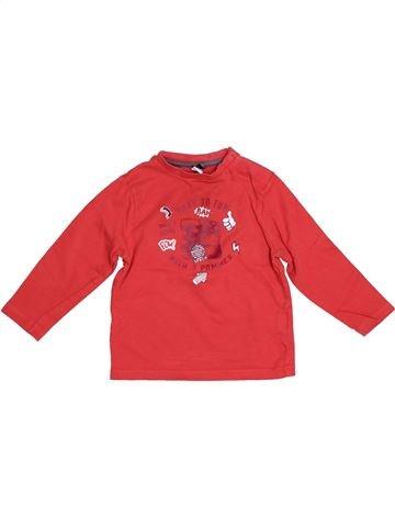 Camiseta de manga larga niño 3 POMMES rojo 12 meses invierno #1526301_1