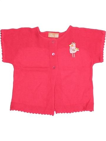 Gilet fille DPAM rouge 2 ans hiver #1526341_1