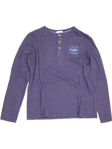 T-shirt manches longues garçon DPAM bleu 12 ans hiver #1527113_1