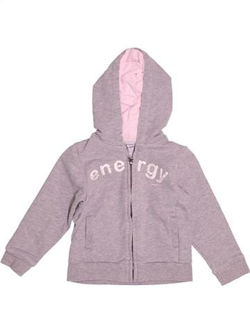 Sweat fille OKAIDI gris 3 ans hiver #1527433_1