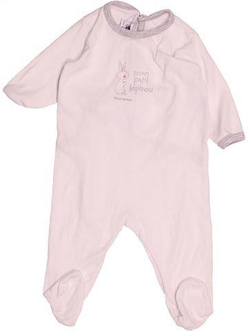 Pyjama 1 pièce garçon PETIT BATEAU blanc 6 mois été #1527591_1
