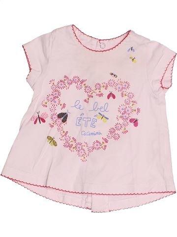 Camiseta de manga corta niña CATIMINI rosa 3 meses verano #1527610_1
