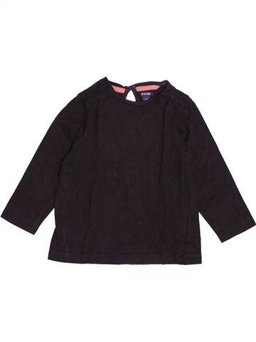 T-shirt manches longues fille KIABI marron 2 ans hiver #1527813_1