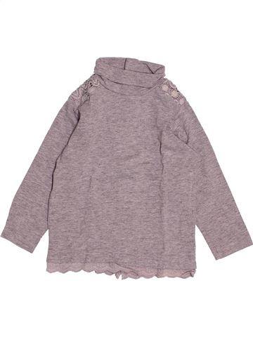 T-shirt col roulé fille KIABI gris 2 ans hiver #1527848_1