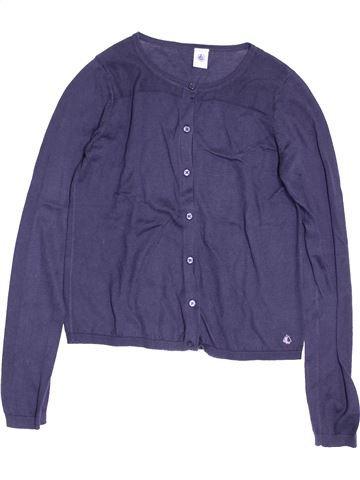 Gilet fille PETIT BATEAU violet 12 ans hiver #1528051_1