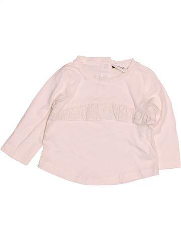 T-shirt manches longues fille TAPE À L'OEIL rose 3 mois hiver #1528128_1