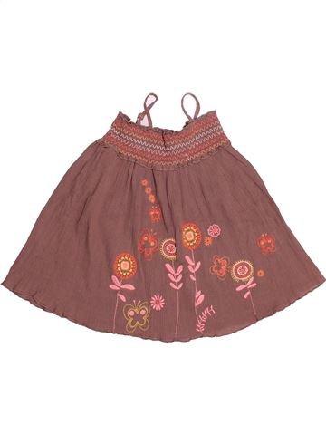 Vestido niña VERTBAUDET marrón 2 años verano #1528244_1