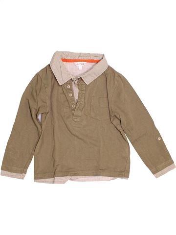 Polo manches longues garçon KIABI marron 5 ans hiver #1528283_1