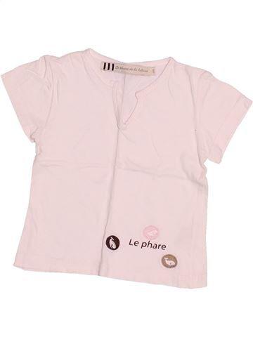 T-shirt manches courtes fille LE PHARE DE LA BALEINE rose 18 mois été #1528584_1