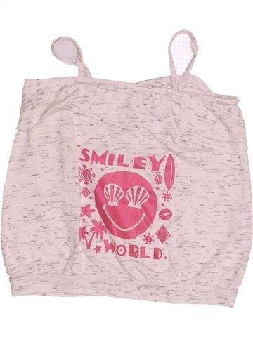 T-shirt sans manches fille SMILEY violet 3 ans été #1528620_1