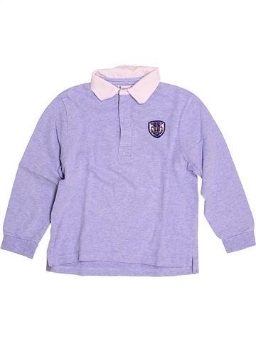Polo manches longues garçon CYRILLUS violet 4 ans hiver #1528748_1