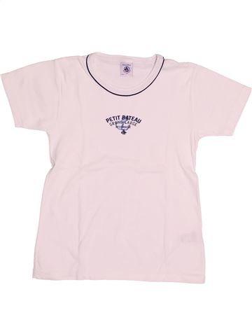 T-shirt manches courtes garçon PETIT BATEAU blanc 8 ans été #1528763_1