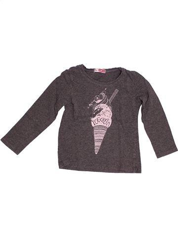 T-shirt manches longues fille DPAM marron 3 ans hiver #1528908_1