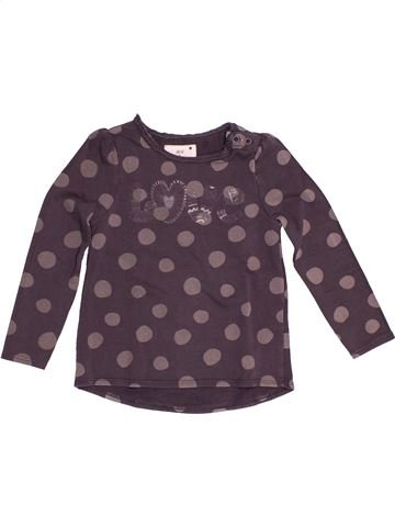 T-shirt manches longues fille DPAM violet 4 ans hiver #1528913_1