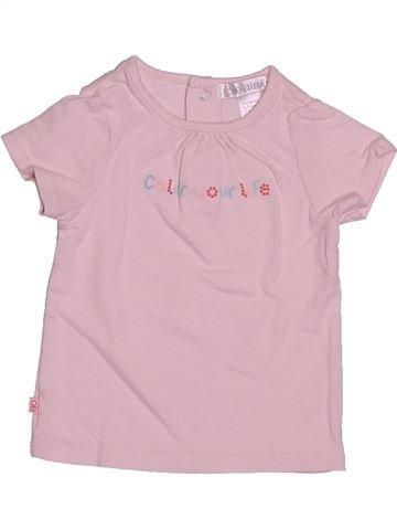 T-shirt manches courtes fille OKAIDI blanc 3 mois été #1529696_1