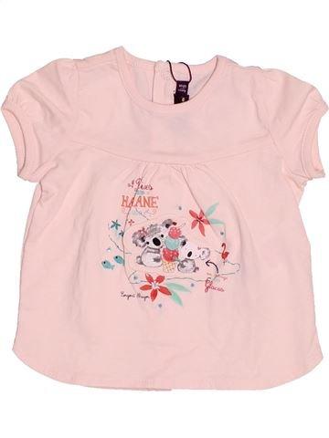 T-shirt manches courtes fille SERGENT MAJOR rose 6 mois été #1529800_1