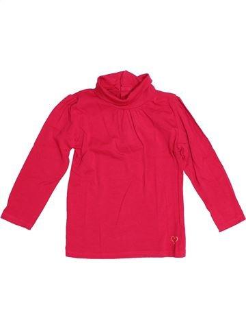 T-shirt col roulé fille KIABI rouge 4 ans hiver #1530030_1