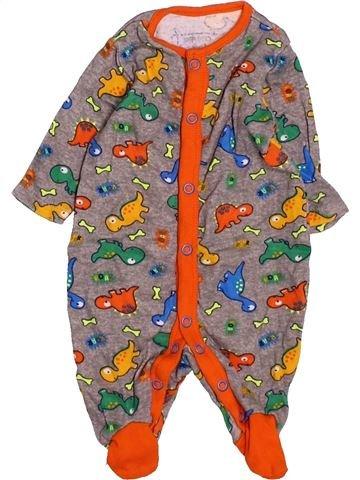 Pyjama 1 pièce garçon PEP&CO marron 1 mois été #1531280_1