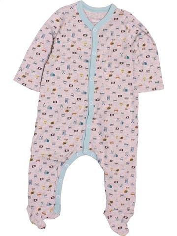 Pyjama 1 pièce garçon CATIMINI blanc 3 mois été #1531941_1