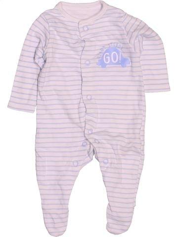 Pyjama 1 pièce garçon F&F blanc naissance été #1533137_1