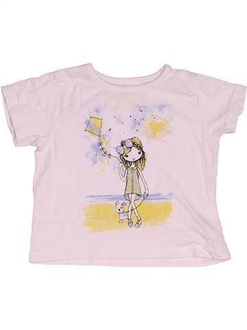 Camiseta de manga corta niña PEP&CO blanco 12 meses verano #1533580_1