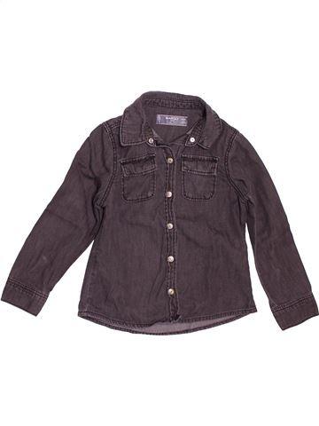 Chemise manches longues garçon MANGO violet 4 ans hiver #1533697_1